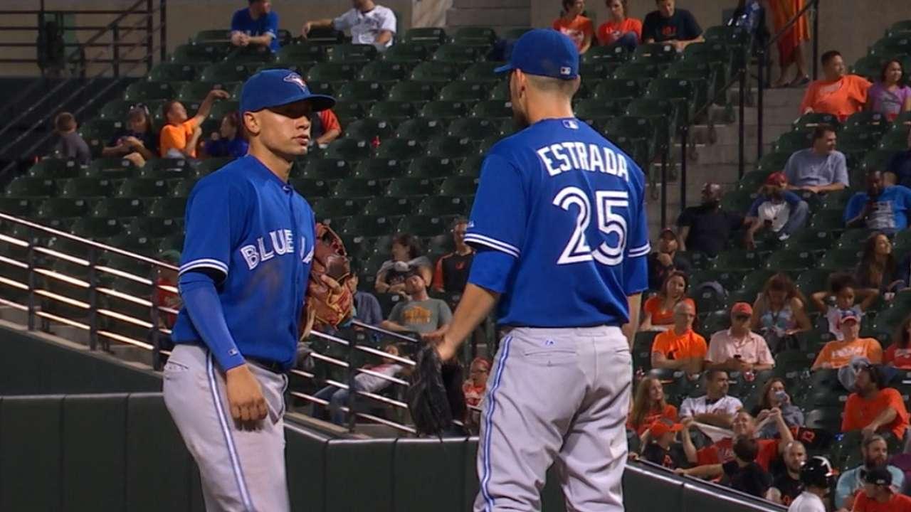 Estrada holds O's to three runs