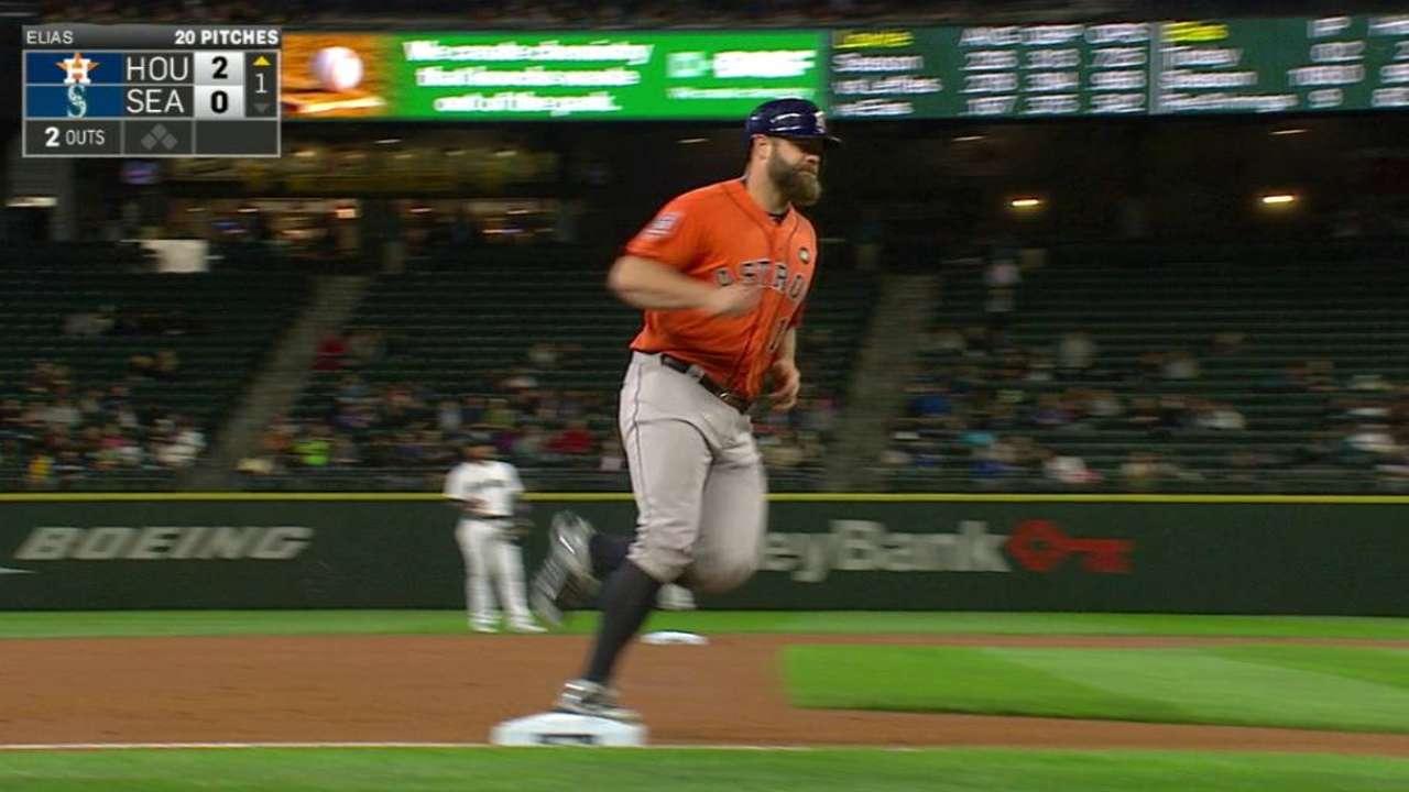 Gattis' solo home run