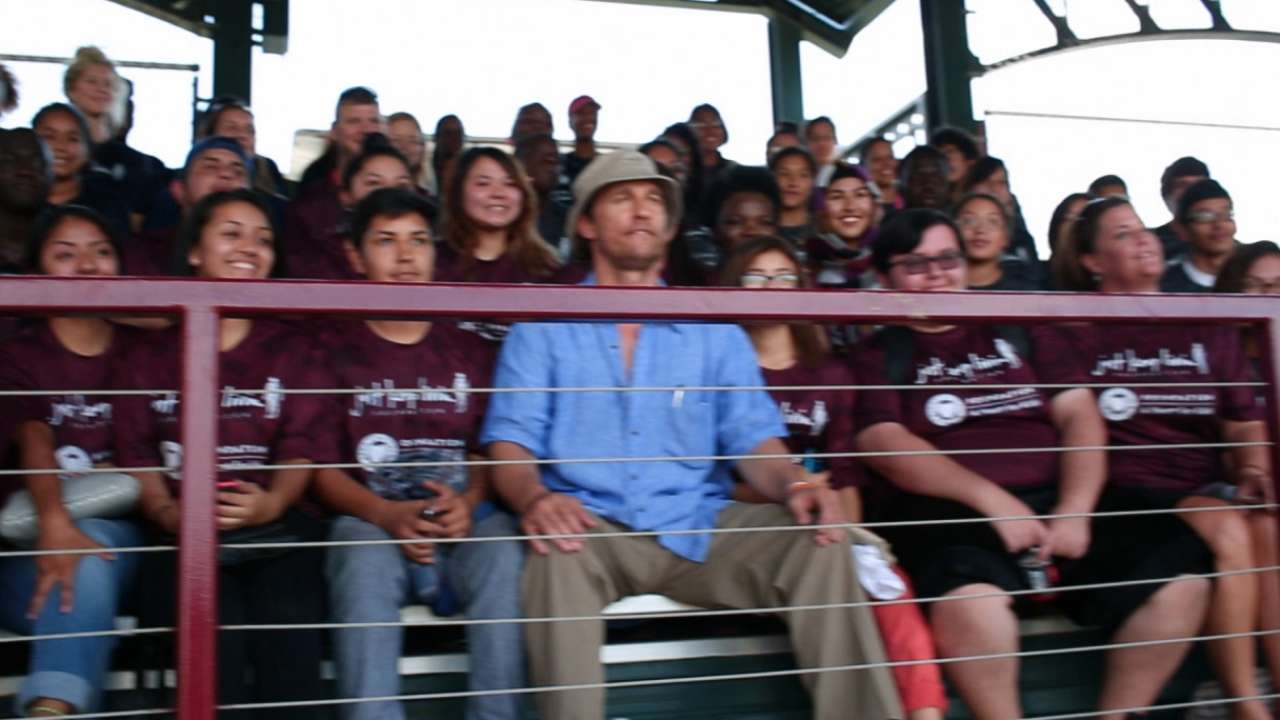 McConaughey, Rangers host area students