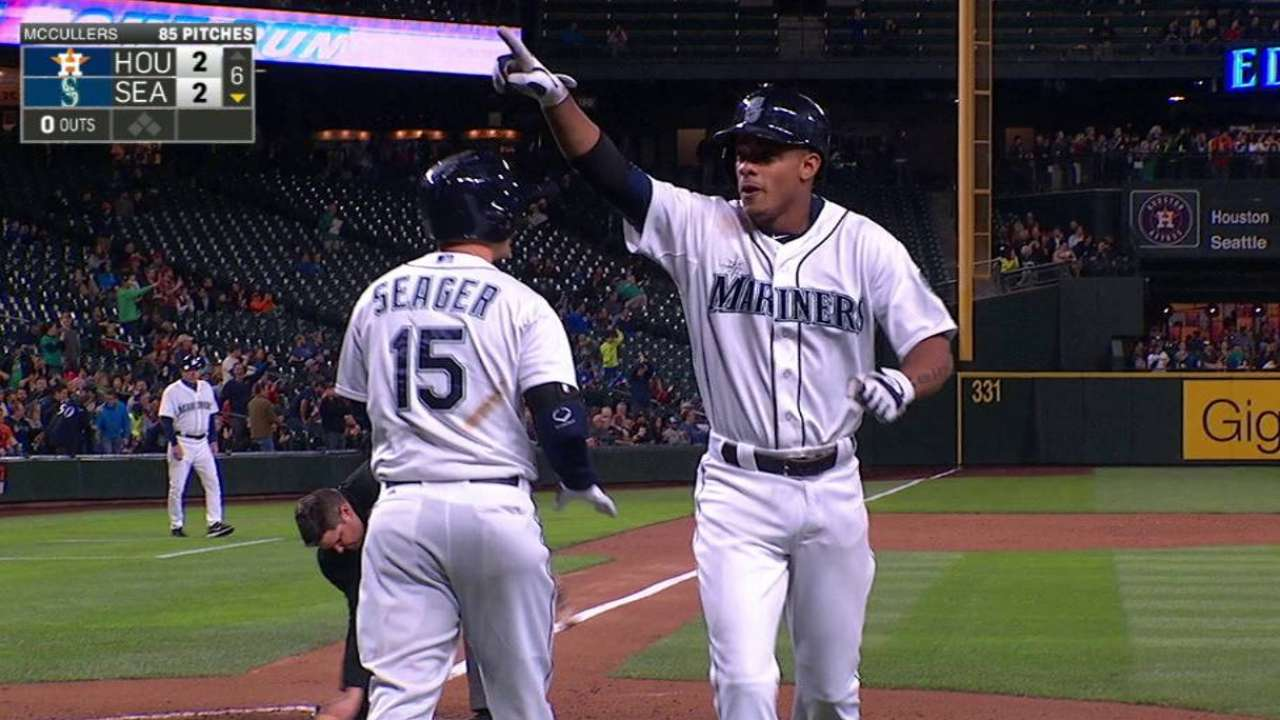 Mariners' Marte starting to show power stroke