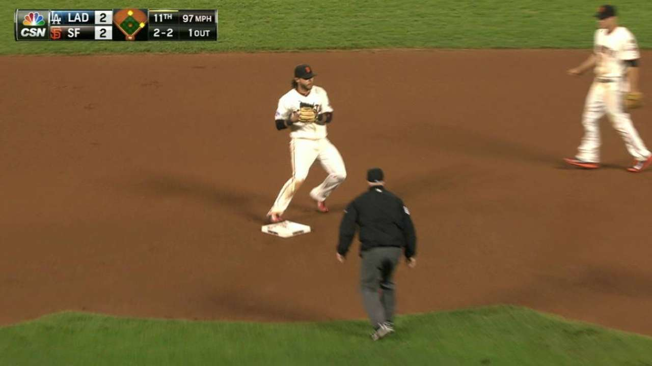 Strickland induces double play