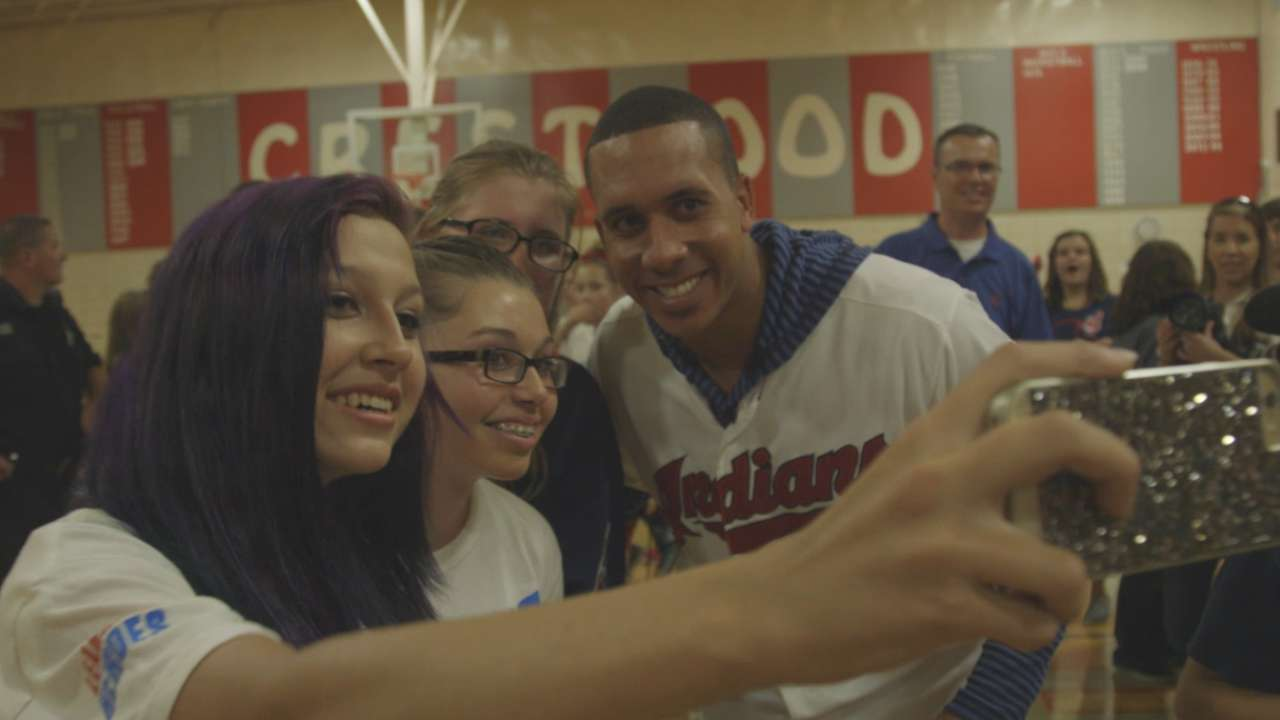 Brantley becomes vocal presence for Tribe