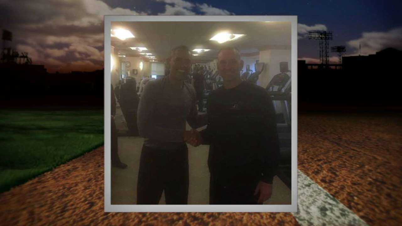 Lovullo pumps iron with President Obama