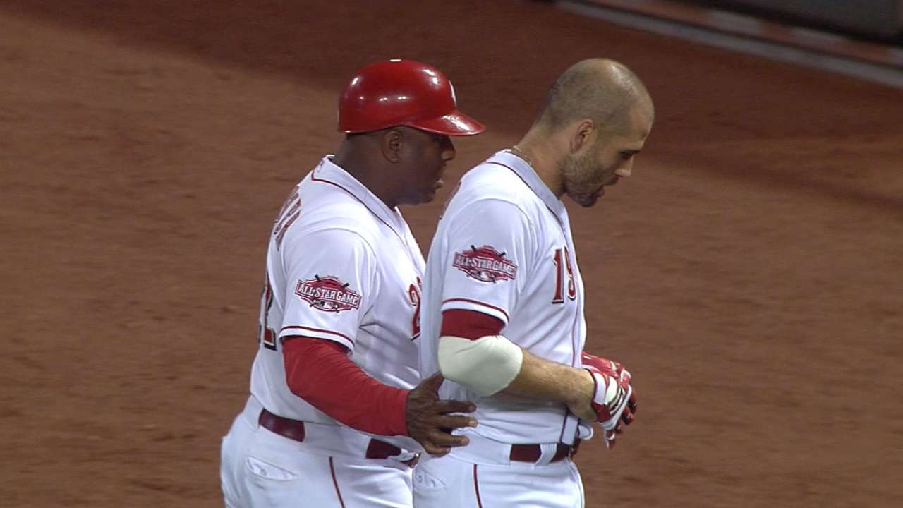 Votto strikes out on bunt