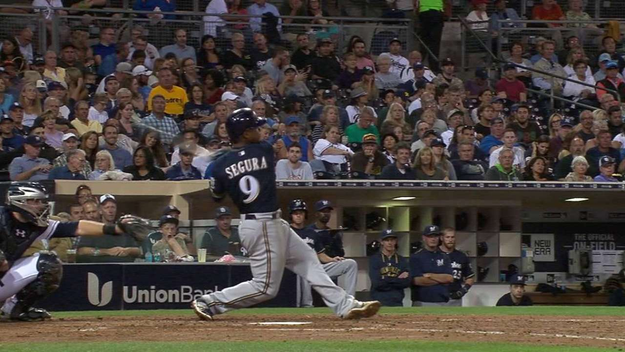 Lopez, Segura lead Brewers over Padres