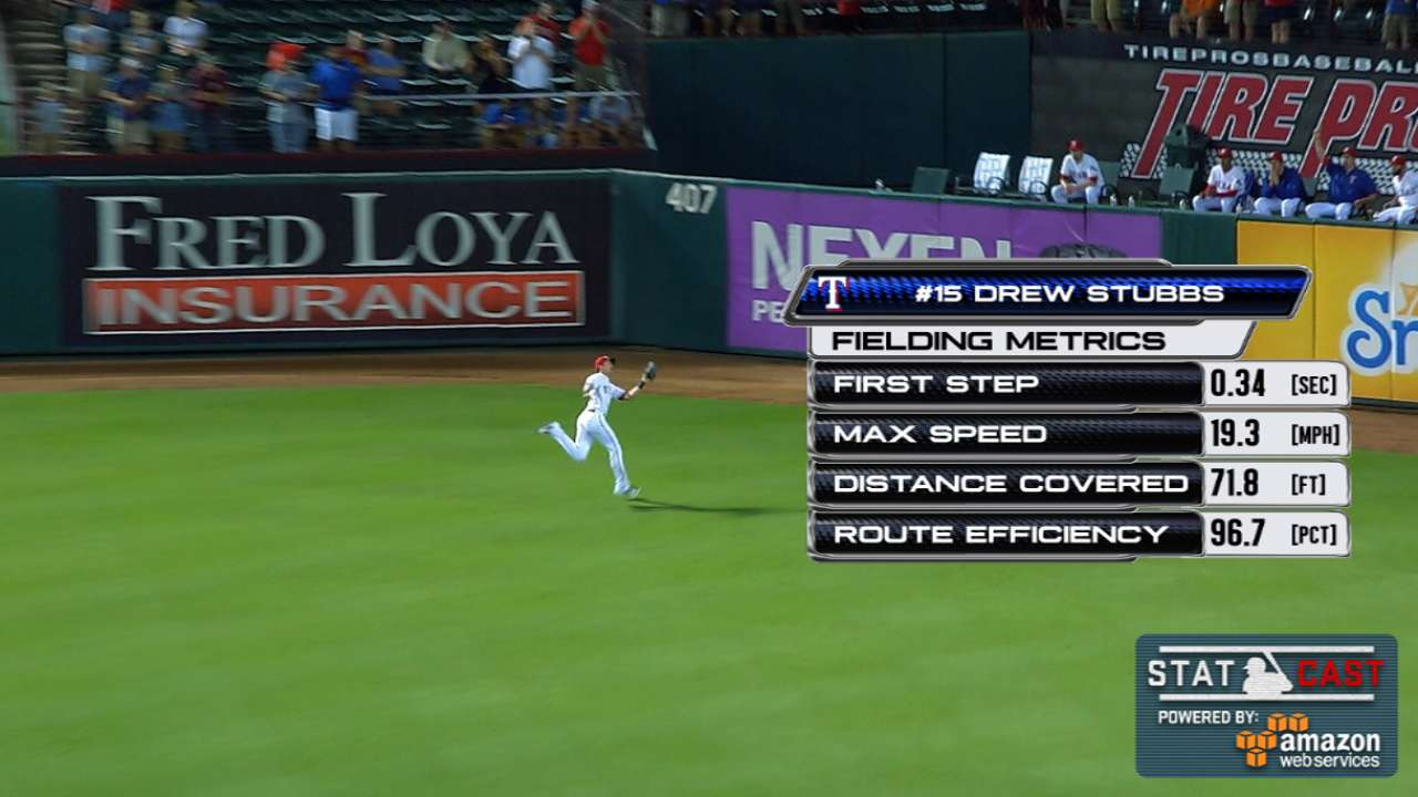 Statcast: Stubbs' great catch
