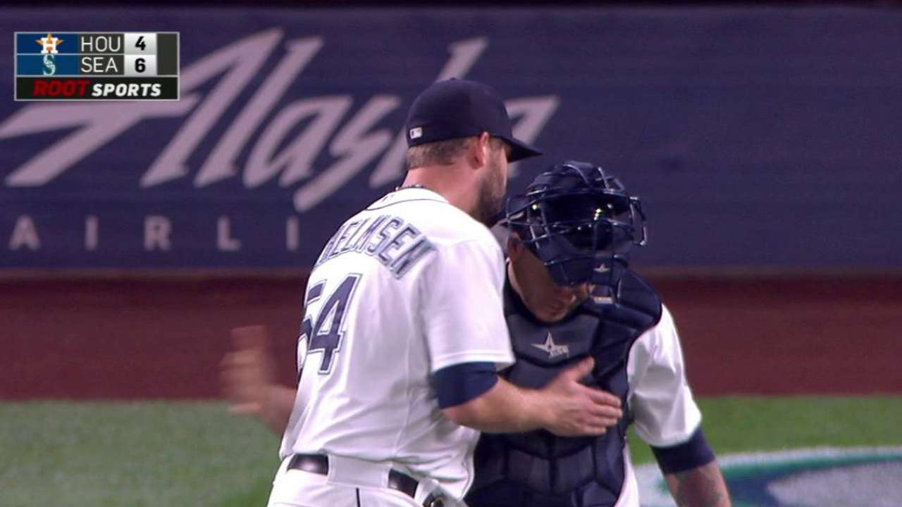 Wilhelmsen closes out win