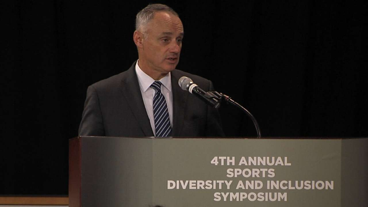 Manfred committed to growing diversity in MLB