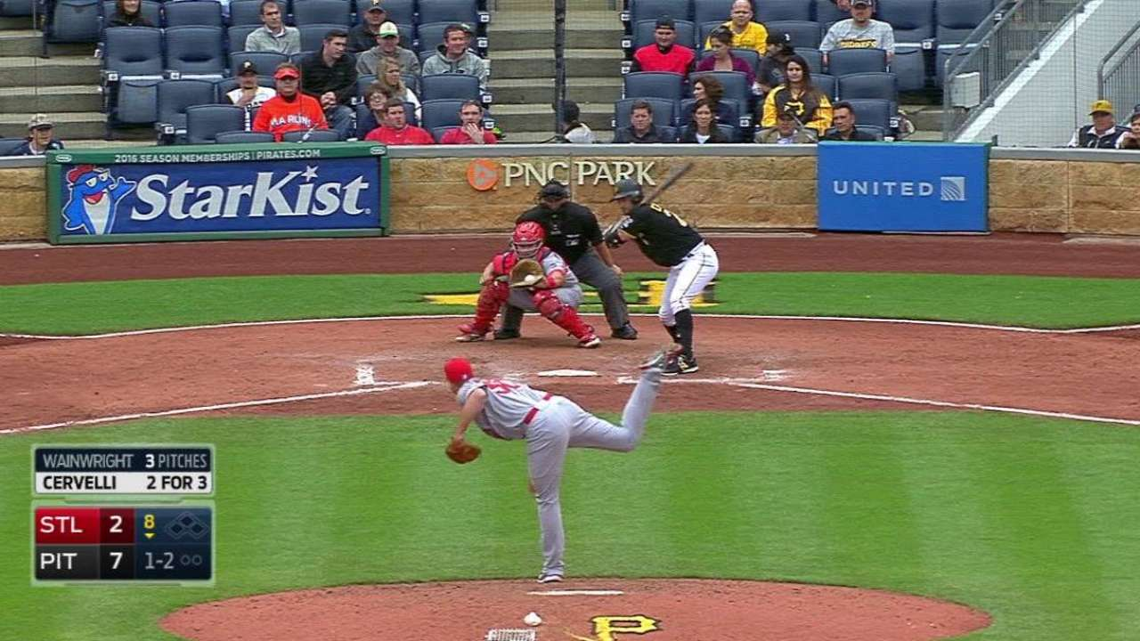 Waino fans Cervelli in return