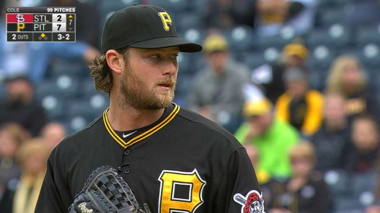 Cole driving Pirates' playoff train