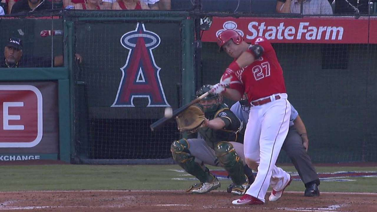Trout's solo shot
