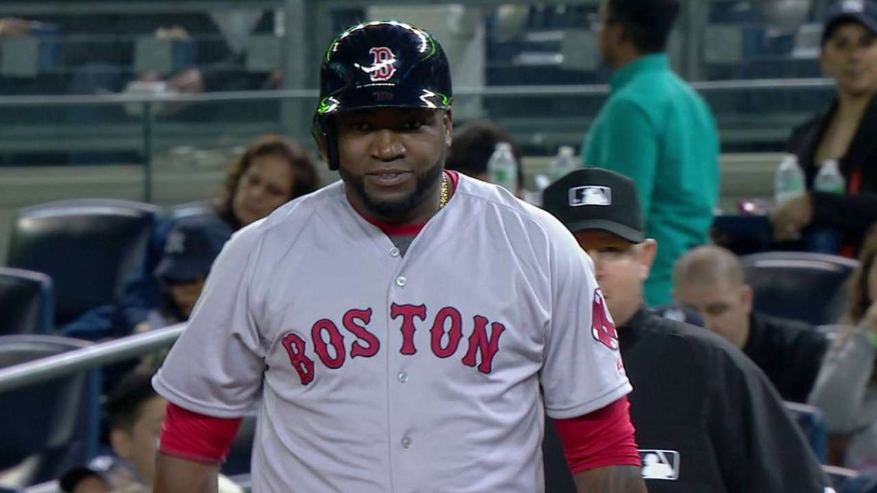 Red Sox may sit Papi for rest of season
