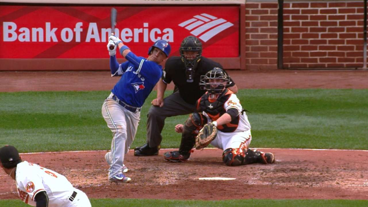 Goins' perfect day at the plate