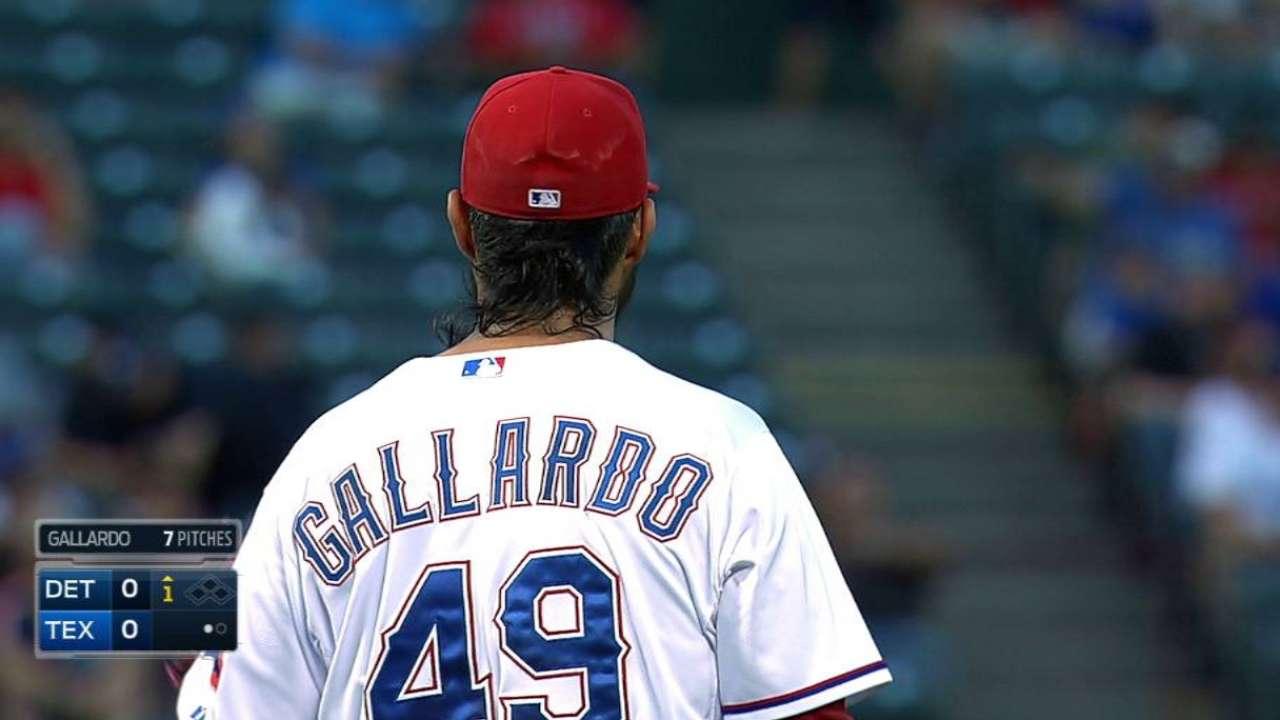 Gallardo sits down Gose