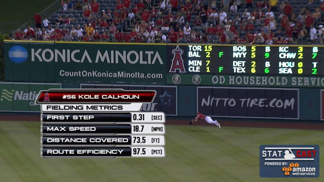 Statcast: Calhoun's great catch