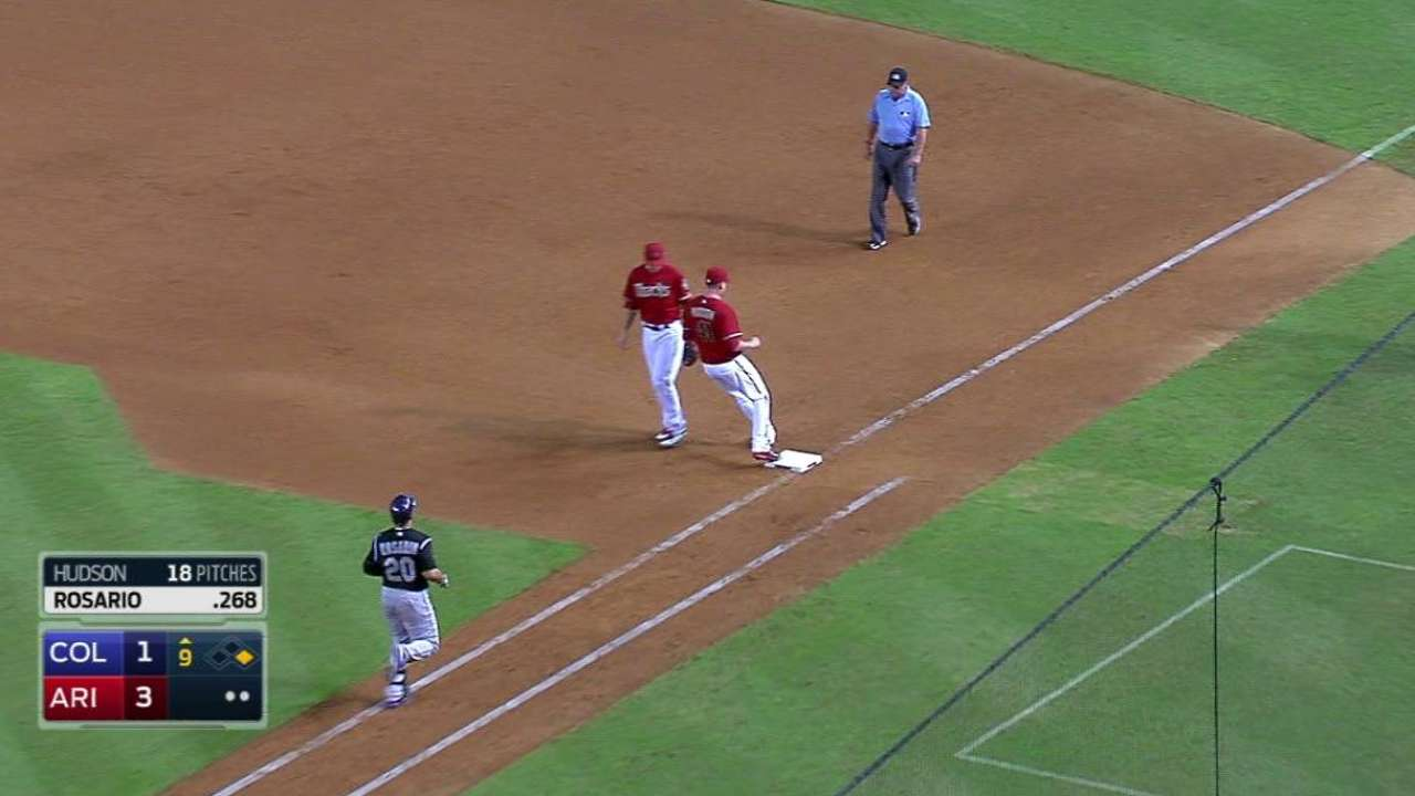 Hudson notches the save