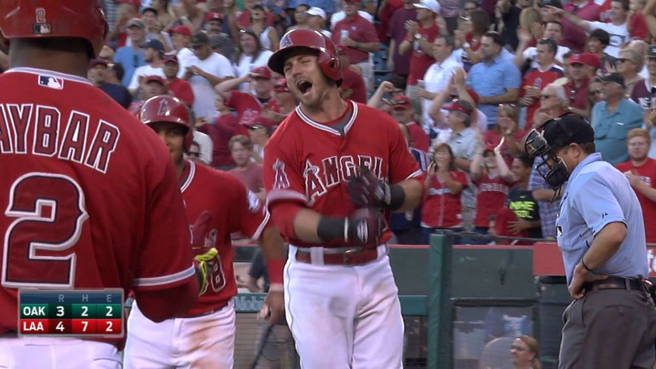 Angels launch five homers