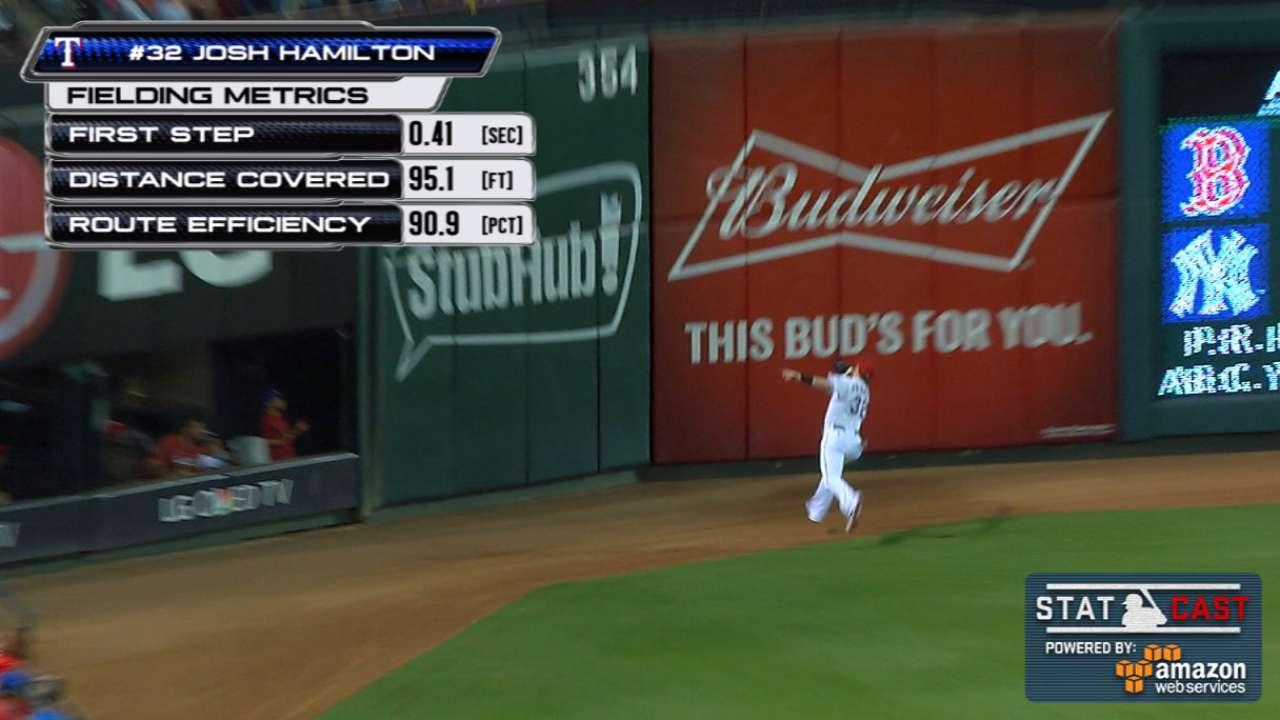 Statcast: Hamilton goes 95 feet