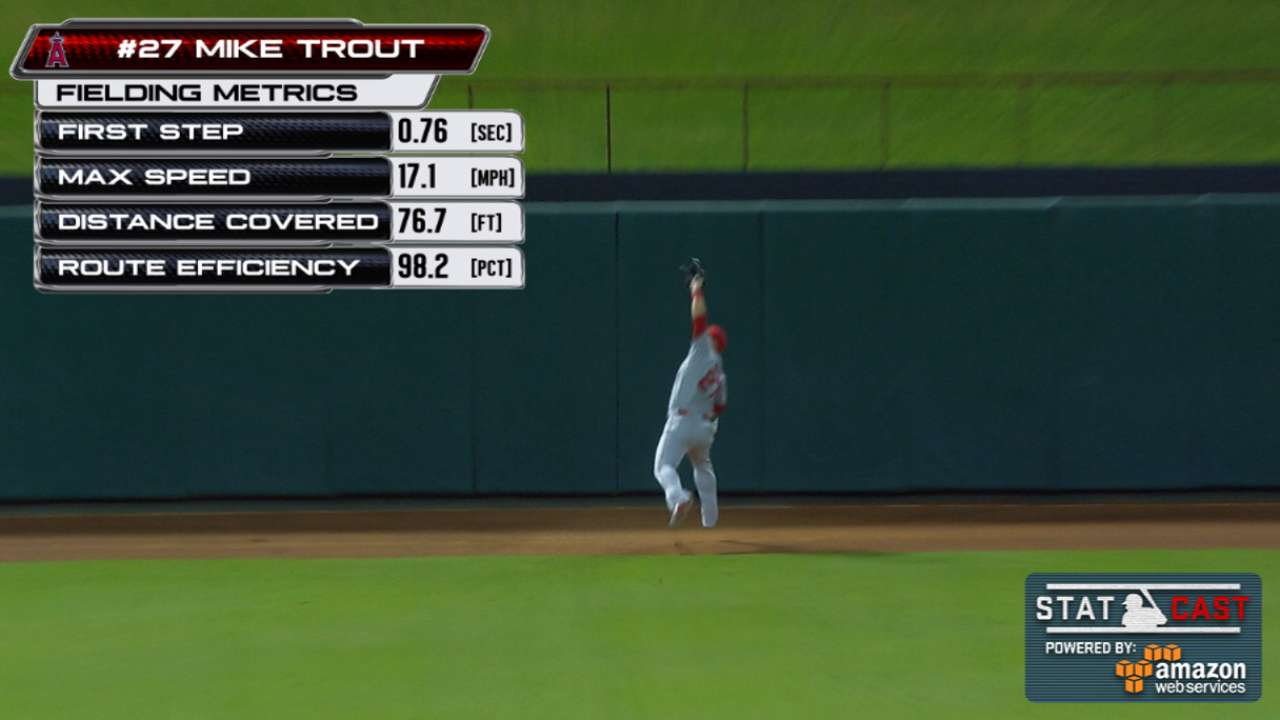 Statcast: Trout's great catch