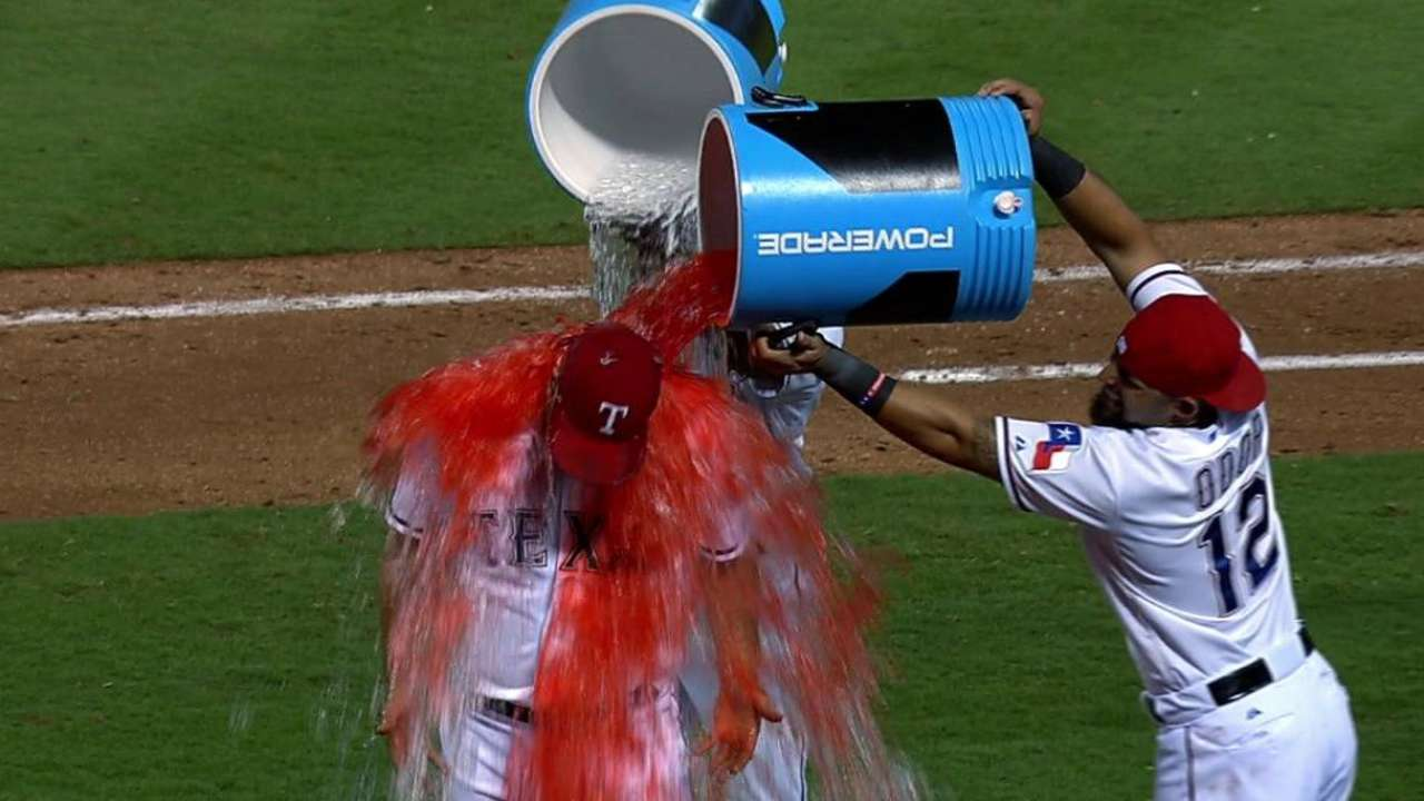 Rangers save big celebration for AL West title