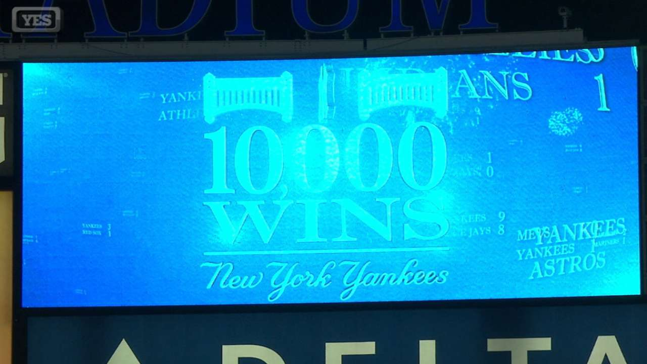 Yanks clinch Wild Card with 10,000th win
