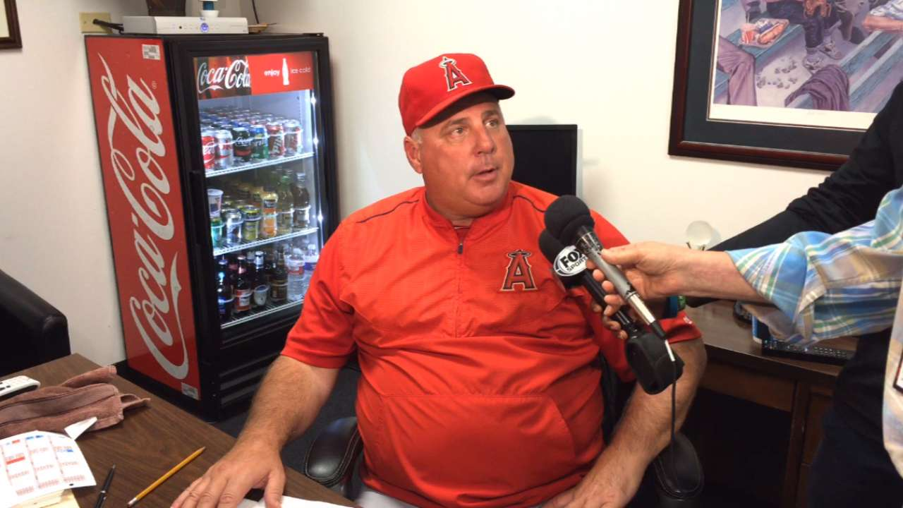 Scioscia prepared for any and all scenarios