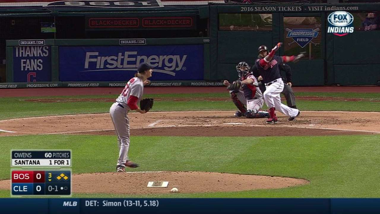 Tribe's runs come in bunches to top Red Sox