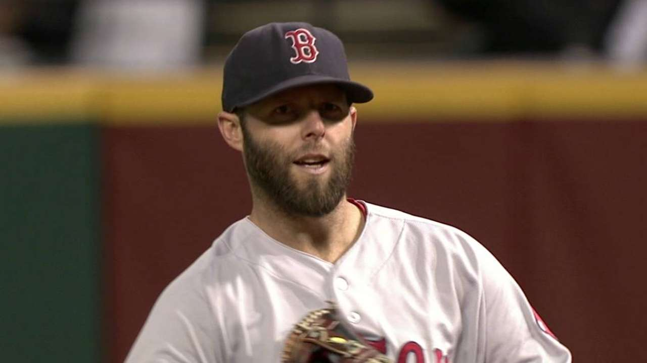 Pedroia, Papi sit for Red Sox on rainy night
