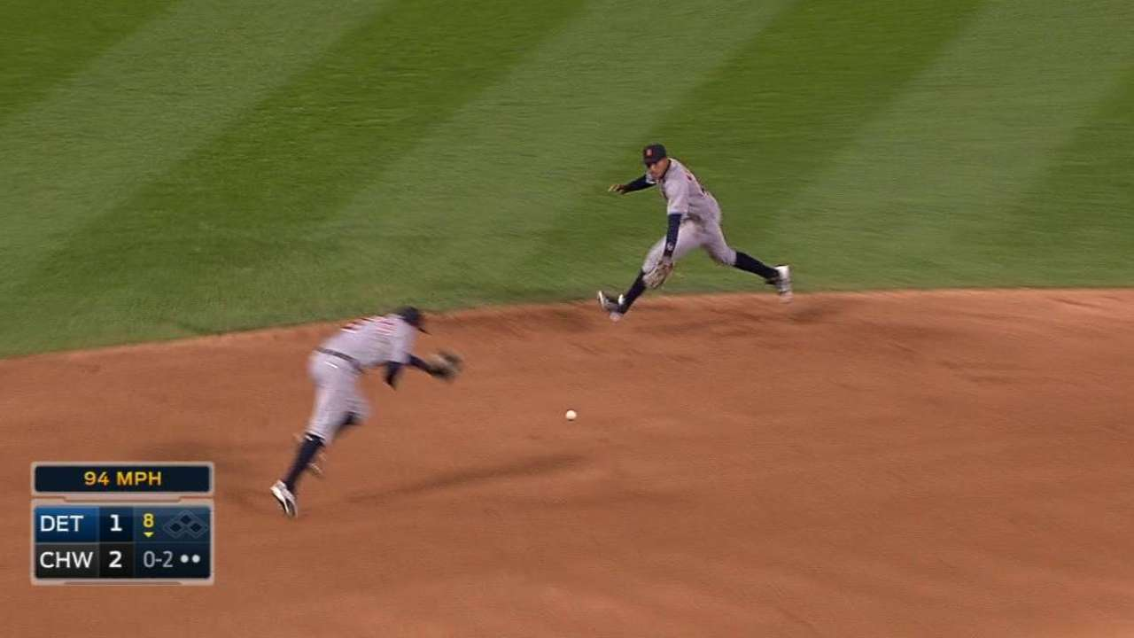 Machado's jump throw