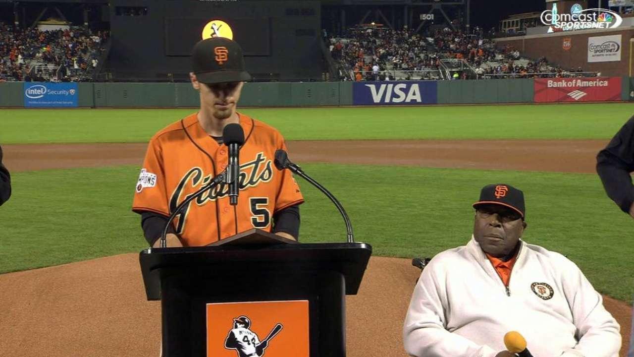 Duffy captures Giants' Willie Mac Award