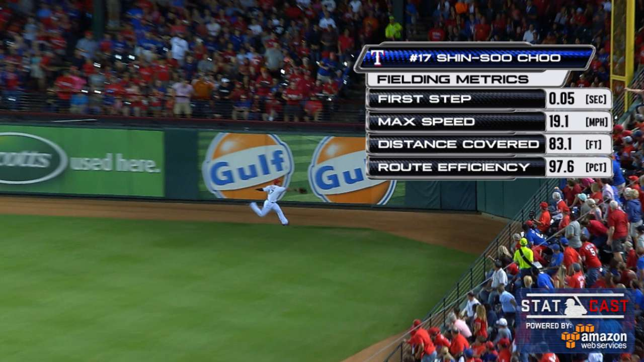 Statcast: Choo's great grab