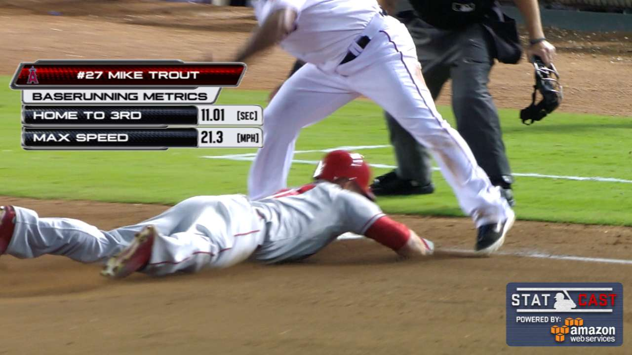 Trout dashes home to third in 11 seconds flat