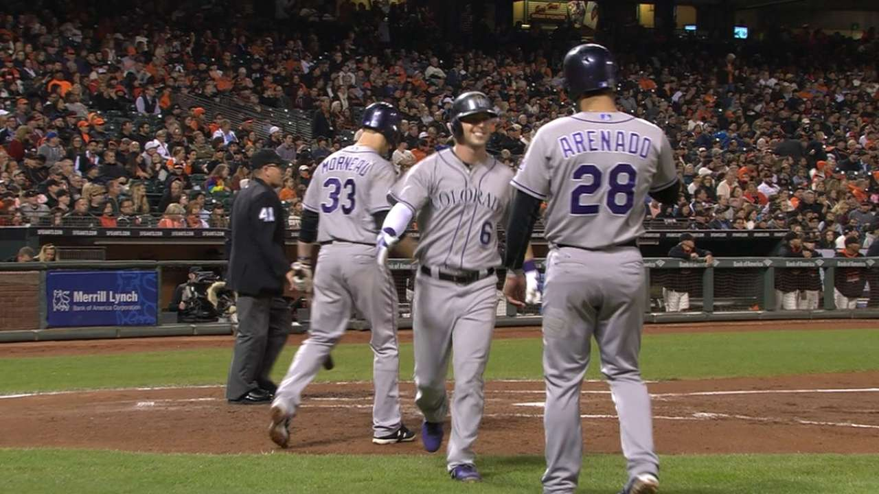 Rockies post five in the 3rd