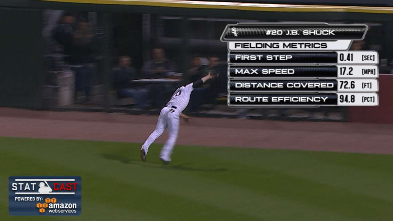 Statcast: Shuck's great play