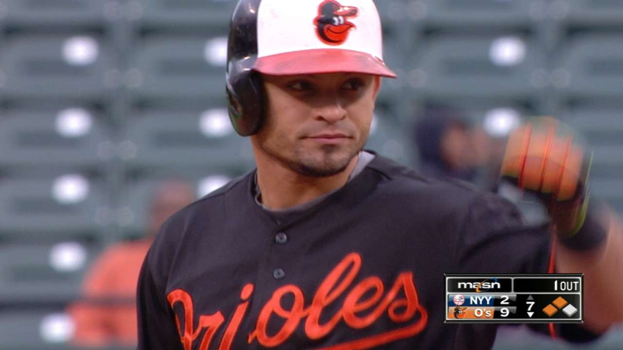 Parra's four-hit game