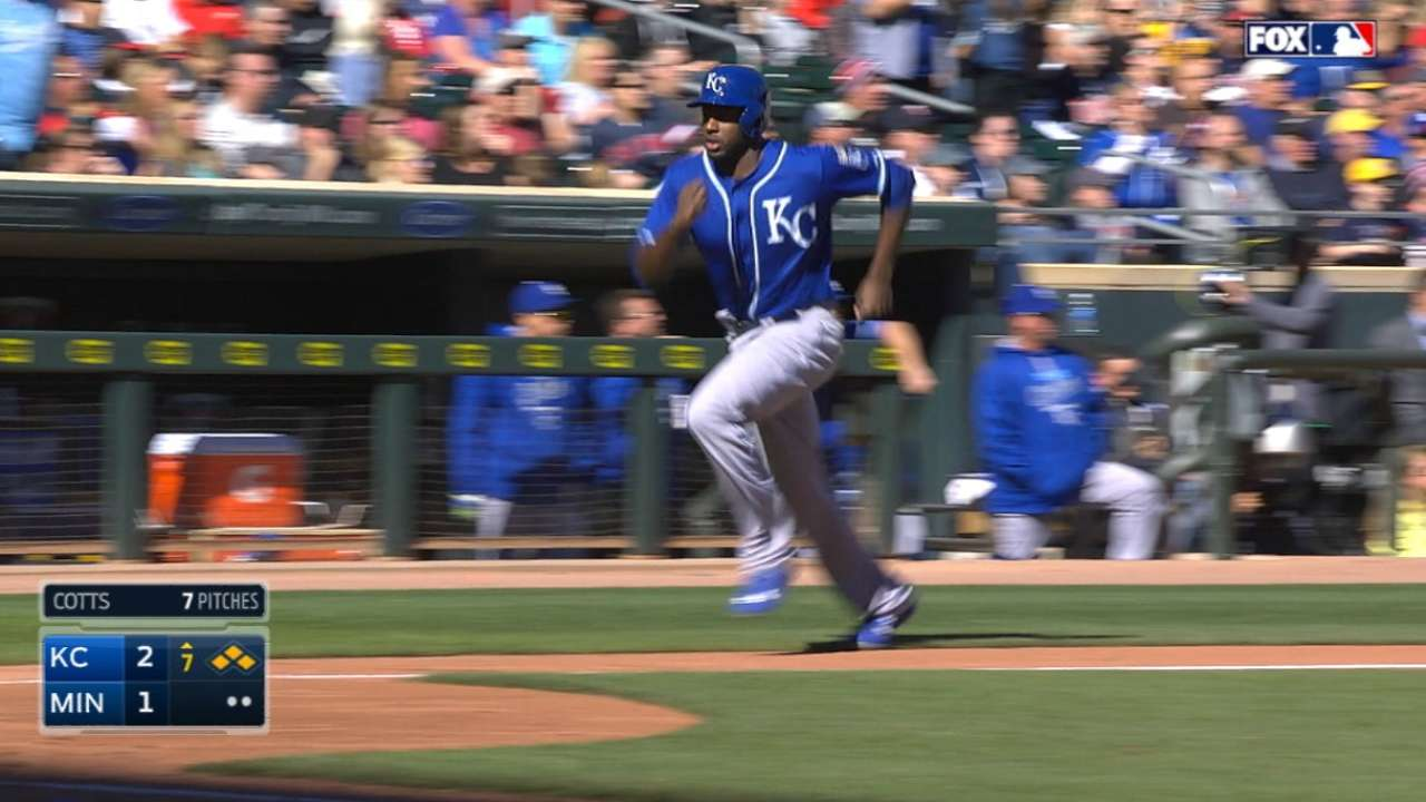 Royals score four in the 7th