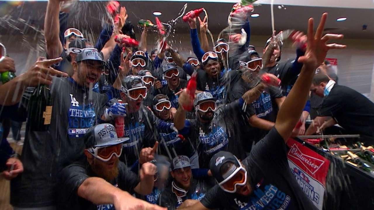 Clinchin' Kershaw: LA wins West, KOs Giants