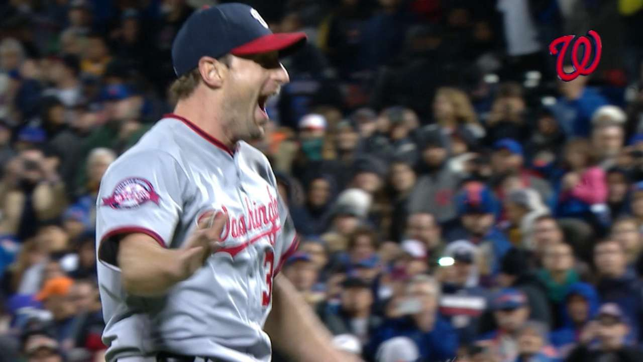 Scherzer fired up in MLB's top GIF of the Day