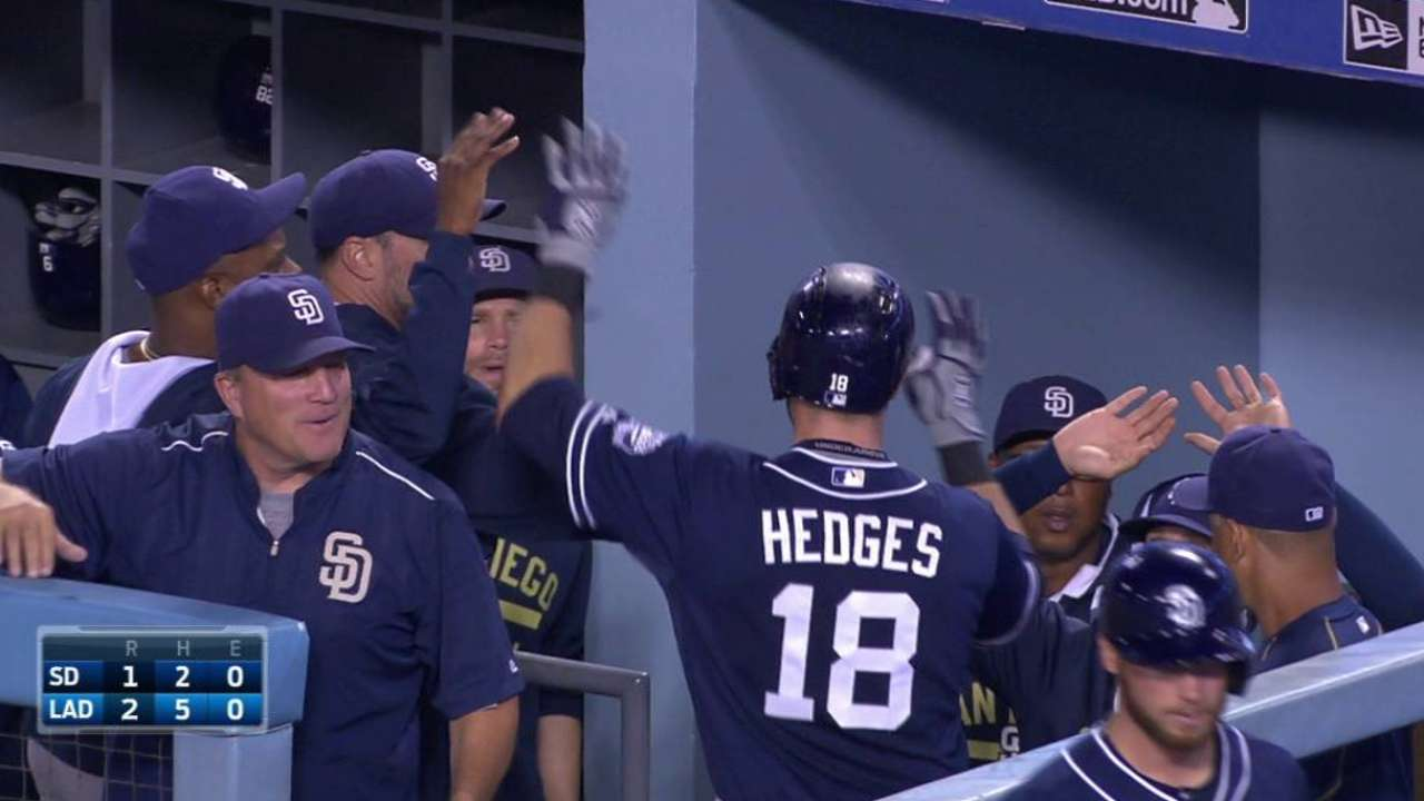 Hedges finishes Winter League stint with 3 HRs in 72 ABs