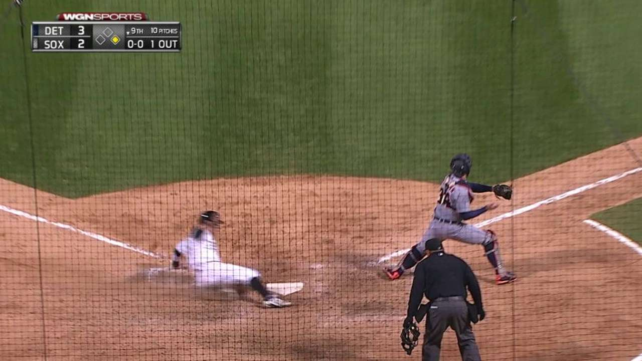 Shuck's game-tying RBI double