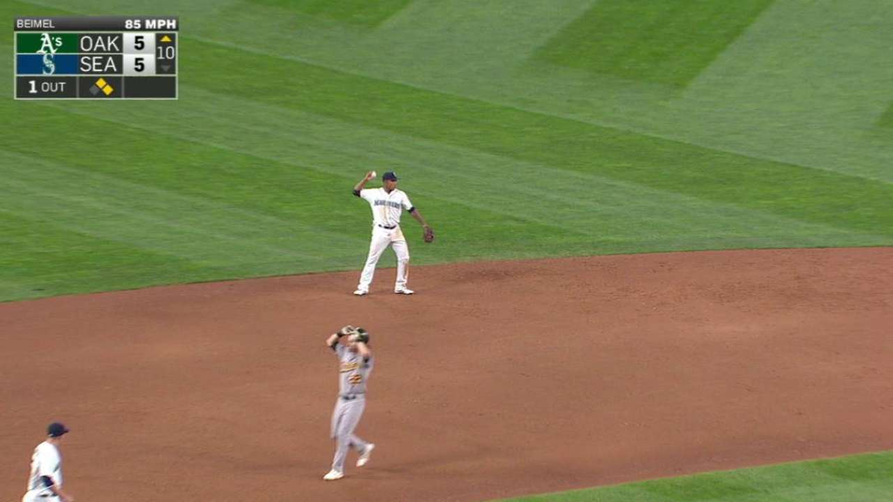 Marte doubles off Reddick