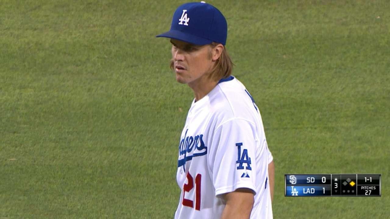 Greinke pitches LA to NLDS home-field edge