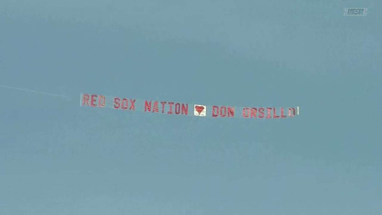 Banner shows love for Orsillo