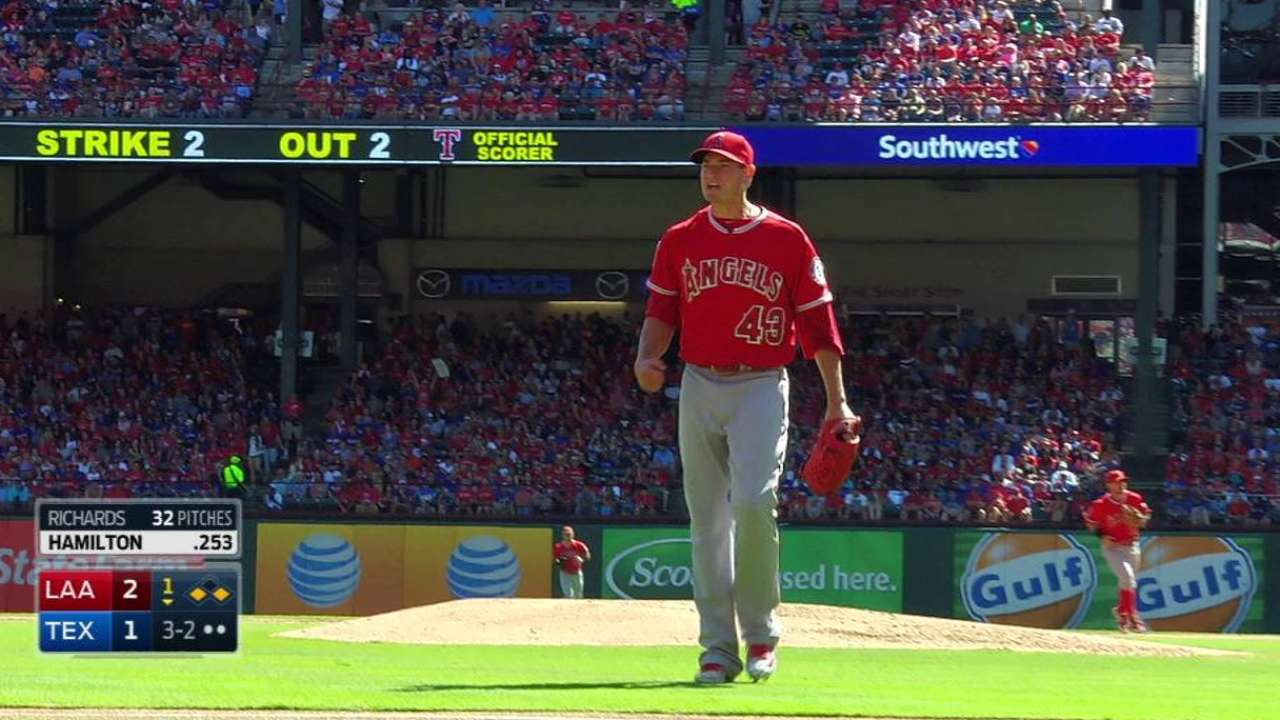 Richards escapes with strikeout