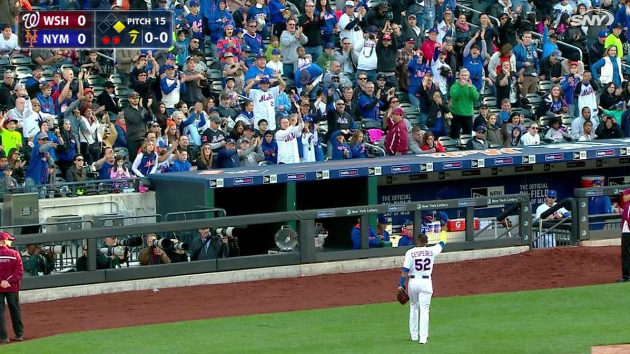 Cespedes exits to ovation