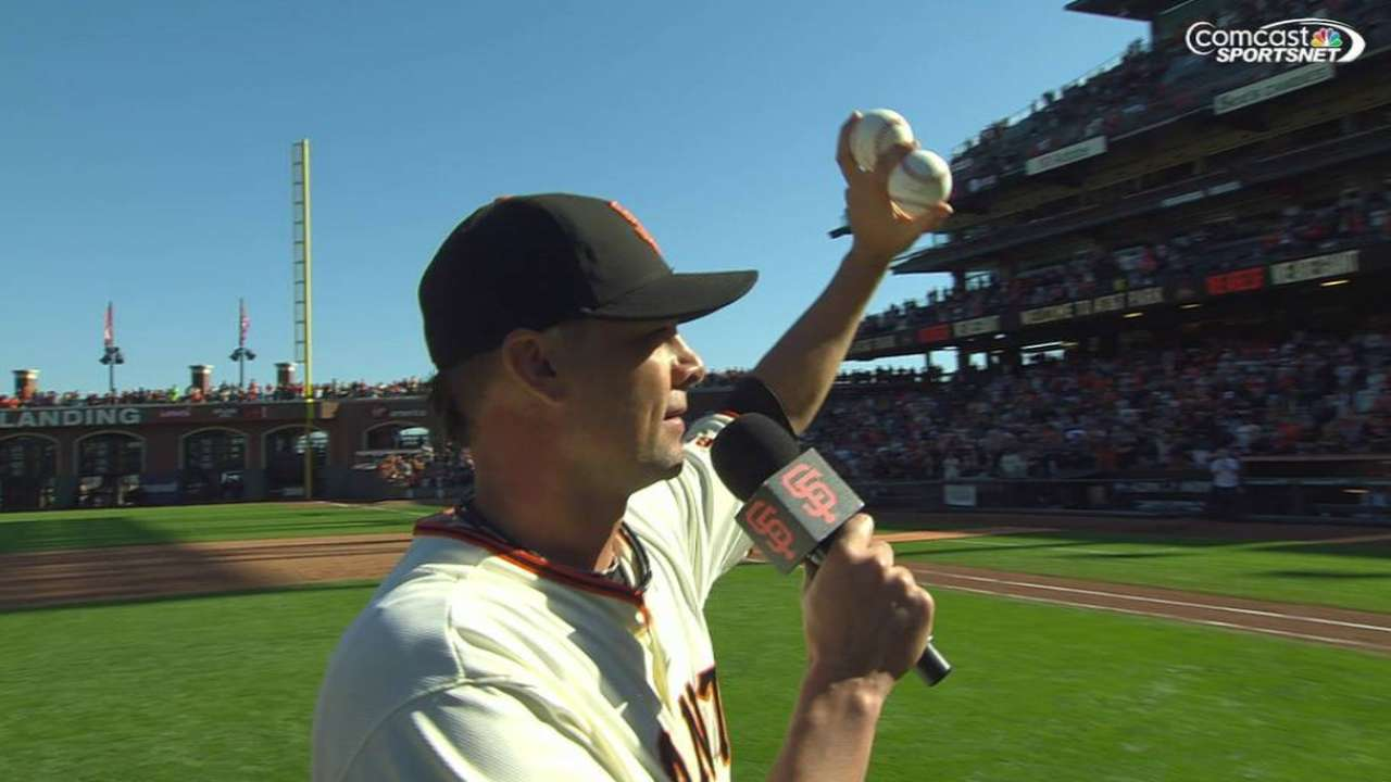 Vogelsong qualifies for spot on Giants' Wall of Fame