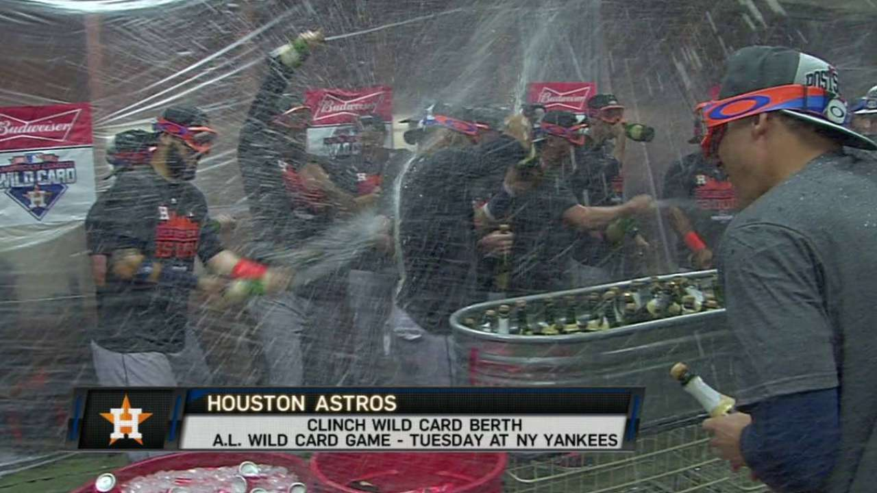 Astros go wild in clubhouse