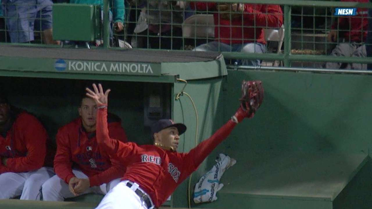 Mookie's catch up for MLB Award for defense