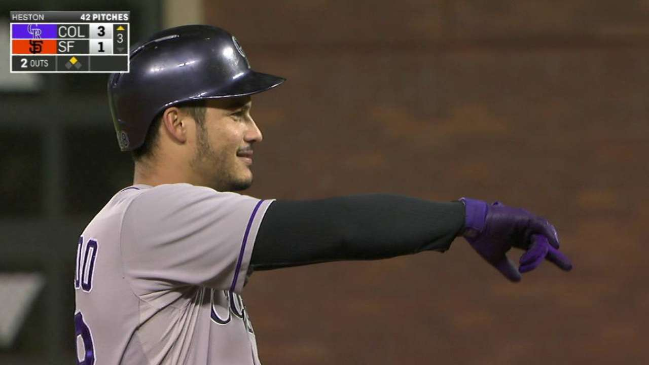 Arenado caps season as NL Player of the Month