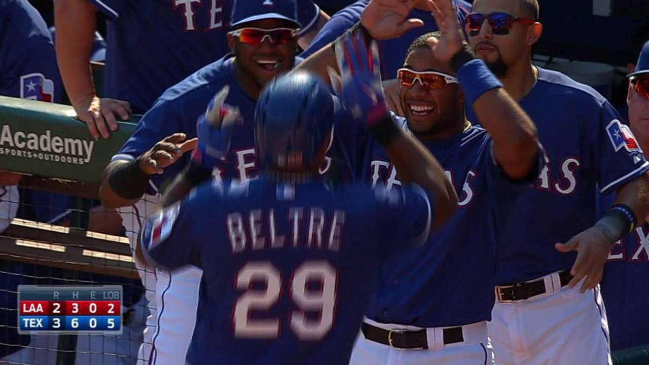 Beltre wins Player of Week for role in division run